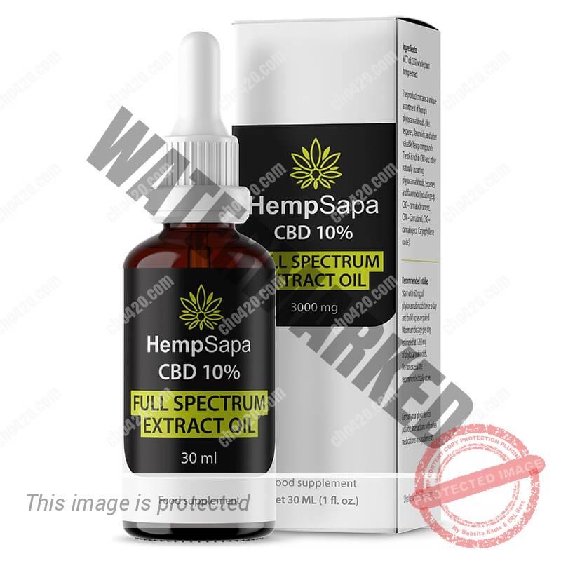Dầu CBD 10% 3000mg lọ 30ml bởi Hempsapa - Shop Gai dầu - Chợ 420 - cho420.com